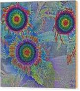 Rainbows In Flowers  Wood Print