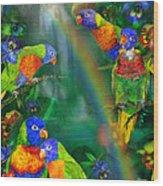 Rainbows In Paradise Wood Print