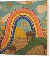 Rainbows Never End Wood Print