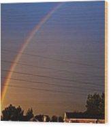 Rainbows Welcome Here Wood Print