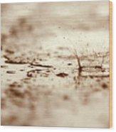Raindrop Falling On The Street Wood Print
