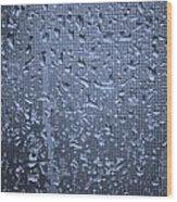 Raindrops On Window I Wood Print