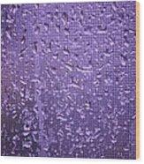 Raindrops On Window II Wood Print