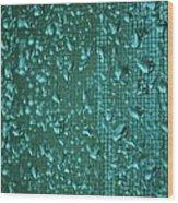 Raindrops On Window Iv Wood Print