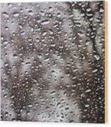 Raindrops Wood Print by Richie Stewart