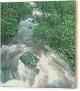 Rainforest Cascade Near Hana Maui Hawaii Wood Print