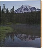 Rainier Awakening Wood Print