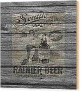 Rainier Beer Wood Print