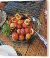 Rainier Cherries - Yummy Wood Print