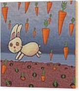 Raining Carrots Wood Print