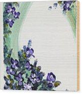 Raining Violets Wood Print