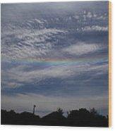 Rainless Rainbow Wood Print