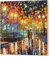 Rain's Rustle - Palette Knife Oil Painting On Canvas By Leonid Afremov Wood Print