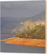 Rainstorm On The Lake Wood Print