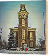Raintree County Courthouse Wood Print