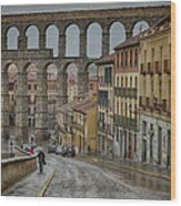 Rainy Afternoon In Segovia Wood Print