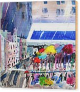 Rainy City Wood Print