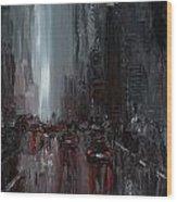 Rainy City. Part II Wood Print