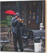 Rainy Day Blues New Orleans Wood Print