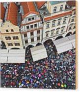 Rainy Day In Prague-1 Wood Print by Diane Macdonald