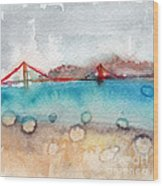 Rainy Day In San Francisco  Wood Print