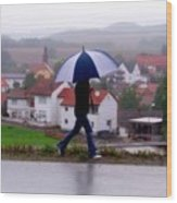 Rainy Day In Sembach Wood Print
