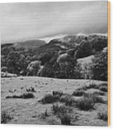 Rainy Day In The Lake District Near Loughrigg Cumbria England Uk Wood Print