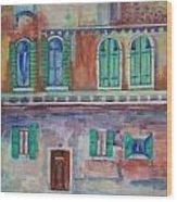 Rainy Day In Venice Italy Wood Print