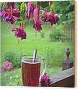 Rainy Day Tea Wood Print
