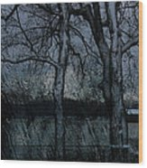 Rainy Days And Mondays- Feature-barns Big And Small-visions Of The Night-photography And Textures Wood Print