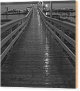 Rainy Evening On The Dock Wood Print