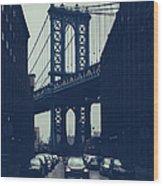Rainy New York City Wood Print