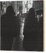 Rainy Night On Seventh - Duo Wood Print