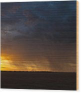 Rainy Sunset  Wood Print by Brandon  Ivey