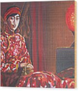 Raise The Red Lantern Wood Print