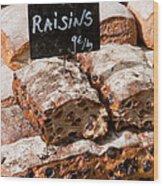 Raisin Bread Wood Print