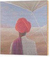 Rajasthan Farmer, 2012 Acrylic On Canvas Wood Print