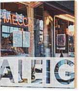 Raleigh At The Mecca Wood Print