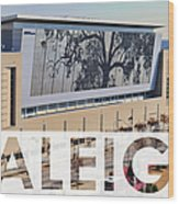 Raleigh At The Shimmer Tree Wood Print