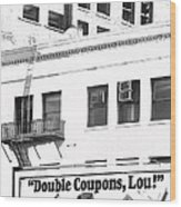 Raleigh Cigarettes Billboard Ad Portland Oregon 1979 Wood Print