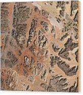 Ram Desert Transjordanian Plateau Jordan Wood Print