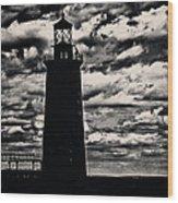 Ram Island Ledge Light Wood Print