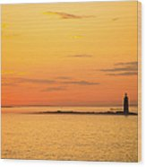 Ram Island Light Casco Bay Maine Wood Print
