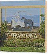 Ramona Welcome Wood Print