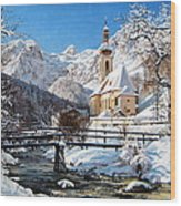 Ramsau Church Germany Wood Print