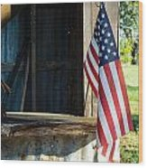Ranch Flag Wood Print