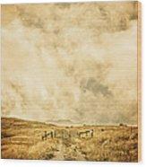 Ranch Gate Wood Print