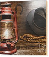 Ranch Light Wood Print