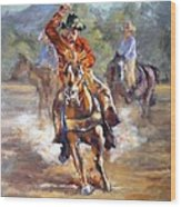 Ranch Rodeo Time Wood Print
