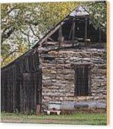 Ranch Shack Wood Print